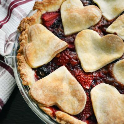 Gluten-free Strawberry Blackberry Pie by Brianna Wolin