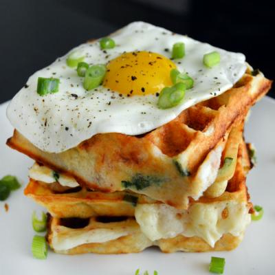 Cup4Cup Gluten-Free Pancetta Gruyere Scallion Waffles