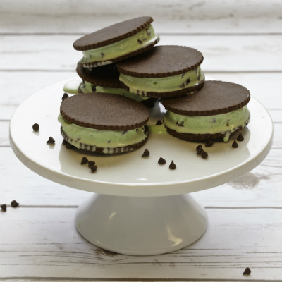 Gluten-free Cup4Cup Mint Chip Ice Cream Sandwiches